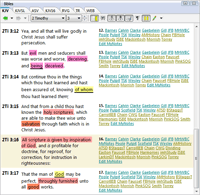 Software for Bible study based on the King James Version